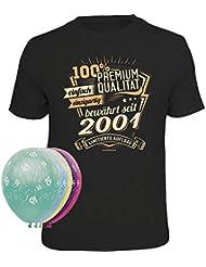fbd47deedbd1fc Geschenkset 1 Rahmenlos T-Shirt und 5 Luftballons zum 18. Geburtstag  verschiedene Motive zur