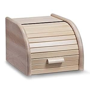 Zeller 20462 Cassetta per il pane in faggio, 23 x 28 x 18 cm