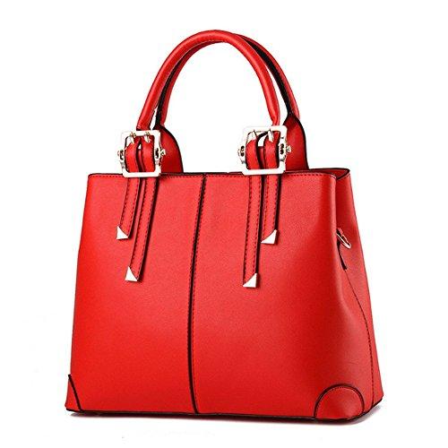 Eysee, Borsa a spalla donna Nero Pink 32cm*25cm*12.5cm rosso