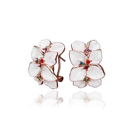 Cristallo austriaco fatto con orecchini di disegno di modo/vite prigioniera/goccia Per le donne confezione regalo di disegno di Swarovski (bianco)