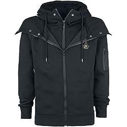 Assassin's Creed Origins - Symbol Sudadera capucha con cremallera Negro XL