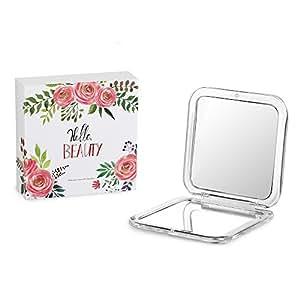 jerrybox tragbarer taschenspiegel zweiseitiger kosmetikspiegel mit 1x 5x vergr erung spiegel. Black Bedroom Furniture Sets. Home Design Ideas