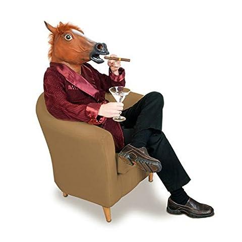 Masque tête de cheval fantaisie Halloween Costume Party Théâtre Support en caoutchouc Latex Creepy