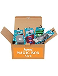 Supersox Baby's & Kids Mix Designs Combed Cotton Socks - (Magic Box: Pack of 30 Unique pairs)