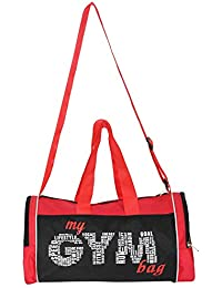 L'AVENIR Multi-Purpose MY GYM BAG Duffel Bag - Black/Red