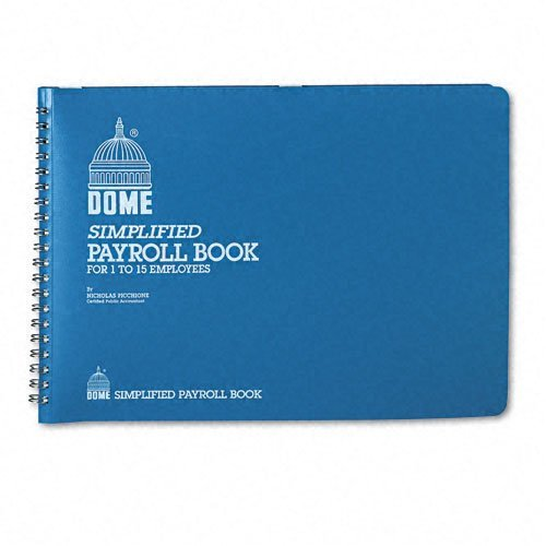 dome-products-dome-simplified-payroll-record-light-blue-vinyl-cover-7-1-2-x-10-1-2-pages-sold-as-1-e