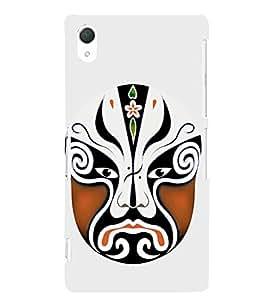 EPICCASE Beijing Opera Brown Mask Mobile Back Case Cover For Sony Xperia Z2 (Designer Case)