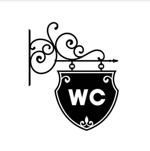 Vintage Wc Wc Badezimmertür Wandaufkleber Türschild Dekoration Vinyl Wohnkultur Aufkleber Wasserdichte Wc Zeichen Wandaufkleber