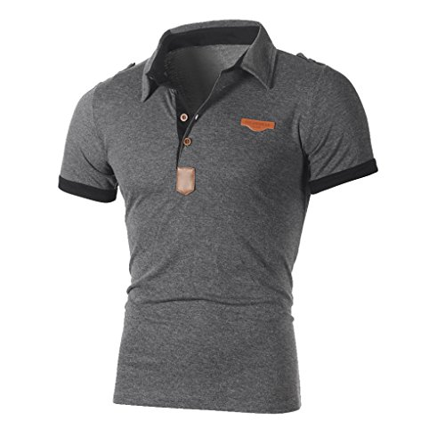 JYJM Herrenbekleidung Hemd für MännerTopTop für Männer Plus Größe Sportbekleidung Lässige Mode Herren Sommer KurzarmT-Shirt-Top Bluse Persönlichkeit Männer Schlank Kurzarm (L, Grau) Hal Jordan Büste
