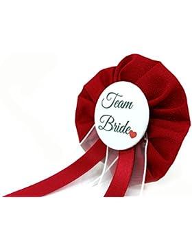 AnneSvea Orden - Team Bride Hochzeit rot JGA