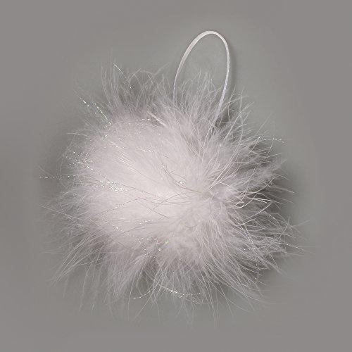 rayher-85229100-feder-ball-mit-glitter-3cm-oe-mit-hanger-schneeweiss