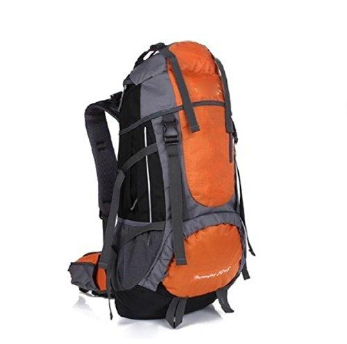 Outdoor Sport Camping Wandern Wasserdichte Rucksack Rucksack Tasche Für Reisen Trekking,Orange Orange