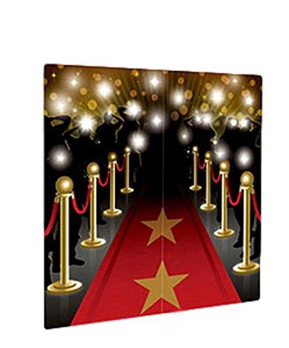 ei den Filmen große Kulisse Selfie Station Fotos Red Carpet Geburtstag Feier Party Neujahr Papier Geschirr Dekorationen ()