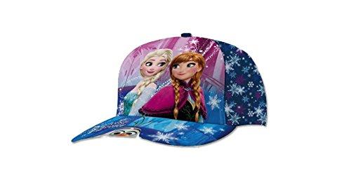 Cappellino con visiera disney frozen anna e elsa 45361 (blu)