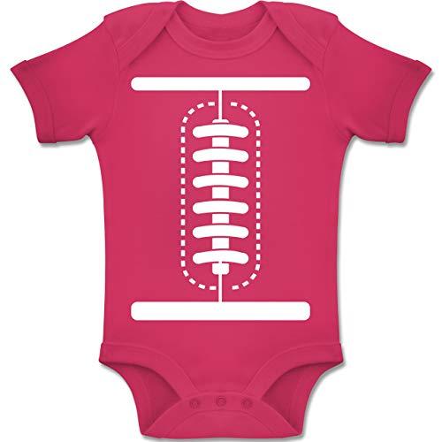 Shirtracer Karneval und Fasching Baby - Football Baby Kostüm - 6-12 Monate - Fuchsia - BZ10 - Baby Body Kurzarm Jungen (Spaß Einfache Gruppe Kostüm)