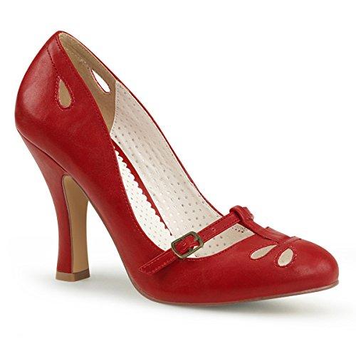 Pinup Couture  Smitten-20, Escarpins pour femme Pu Rot