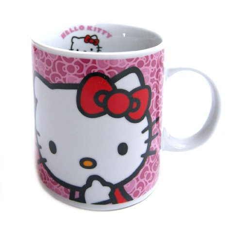 Hello Kitty - Taza regular de porcelana, color rosa (United Labels 811290)