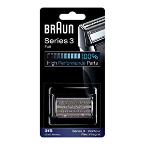 Braun Series 3 Electric Shaver Replacement Foil Cartridge, 31S- Compatible with Braun Series 3 Contour and 5000 Series Flex XP Shavers Only