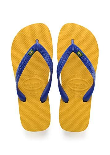 Havaianas Brasil, Infradito Unisex Adulto, Giallo (Banana Yellow 1652), 47/48 EU ( 45/46 Brazilian)