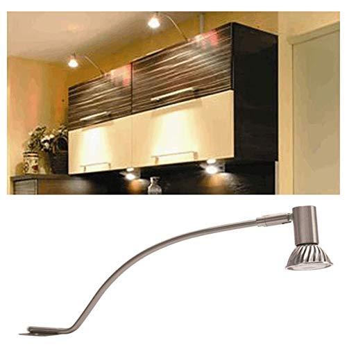 Schrank Aufbauleuchte Tampa-Globe Warehouse® - mit Sockel Gx5,3, für Lampen MR-11, MR-16, mit 12V, Leistung bis 50W, Schrankbeleuchtung für Kleiderschrank, Badschrank, Garderobenschrank