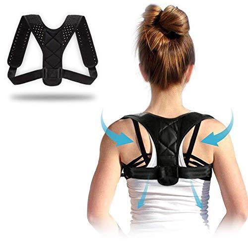 Körperhaltung-Korrektor für Männer und Frauen-Effektiv komfortabel einstellbare Körperhaltung Korrekter Körper für die Unterstützung der Körperhaltung, Kyphose-Klammer, Rücken und Schulter (A)