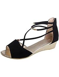 Sandalias para Mujer Verano 2018 PAOLIAN Zapatos de Plataforma de Boca de  Pescado Playa Romano Boho 71bfad7cd061