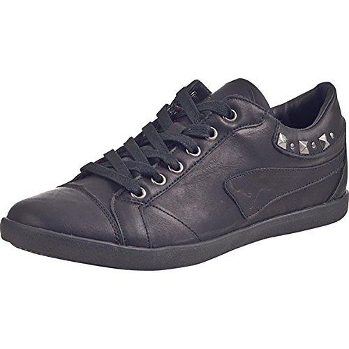 KANGAROOS Damen Sneakers, Hallenschuhe K-Slim Woman 5014A, Sportschuhe schwarz, 180251-1 Noir - Noir
