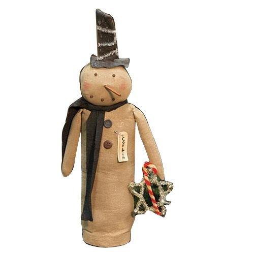 CWI Tapetenbordüre Geschenke Corbin Primitiv Schneemann Puppe, Multicolor