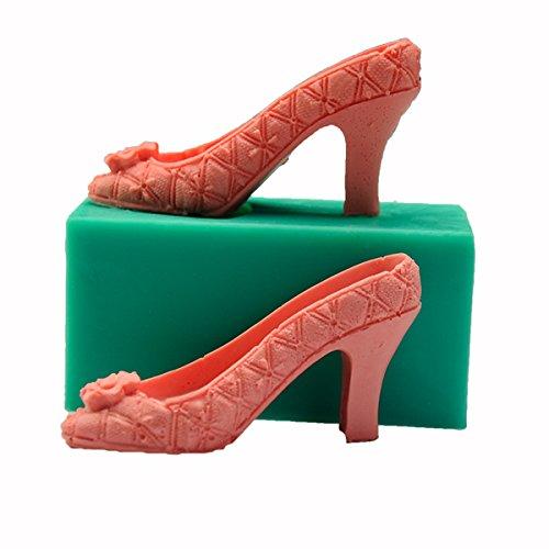 Inovey 3D Silikon High Heel Form Fond Kuchen Lady Shoe Mold