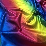 Entdecken Sie Lifestyle & Fashion Fabrics Regenbogen-Satin,
