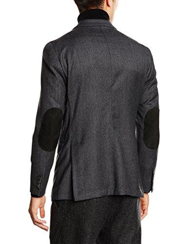 Hackett London Plain Flannel, Blazer Uomo Grigio (Grey)