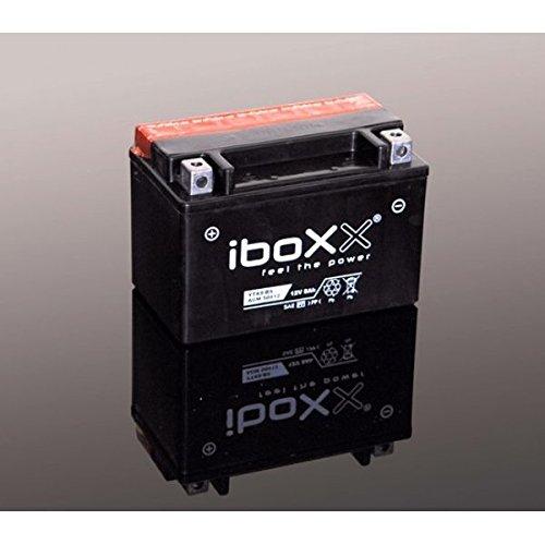 Iboxx Motorrad Batterie YTX7A-BS, 12 Volt, 6 Ah, AGM wartungsfrei inkl Säurepack für Explorer Stinger 250, Bj. 2009-2011