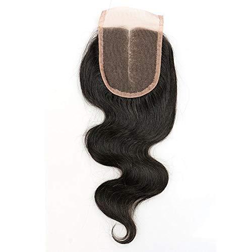 Blisshair - extension con veri capelli 100% naturali indiani, grado 7a, chiusura dritta in pizzo da 9 x 10 cm circa