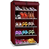 Ebee Store Shoe Rack with 5 Shelves (Maroon)