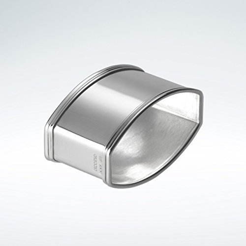Serviettenring Fadenrand oval 925 Silber