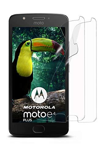 moex 2X Motorola Moto E4 Plus   Schutzfolie Klar Bildschirm Schutz [Crystal-Clear] Screen Protector Display Handy-Folie Dünn Bildschirmschutz-Folie für Motorola Moto E4 Plus Bildschirmfolie
