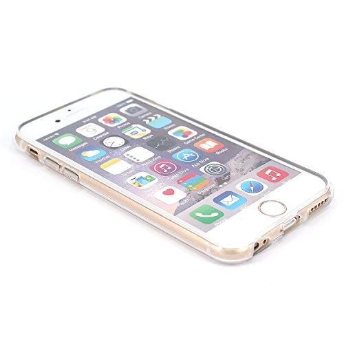 JIAXIUFEN Neue Modelle TPU Silikon Schutz Handy Hülle Case Tasche Etui Bumper für Apple iPhone 6 6S - Half Sunflower Color04