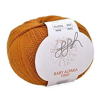 ggh Baby Alpaka Fino Fb. 10 - curry, 25 Gramm feinste Baby Alpaka Wolle zum Stricken und Häkeln