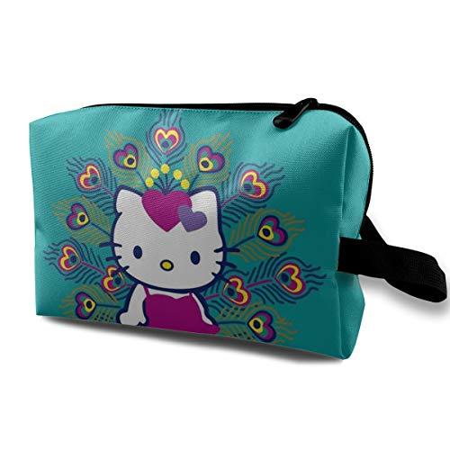 Bolsa Maquillaje Viaje diseño Pavo Real Hello Kitty