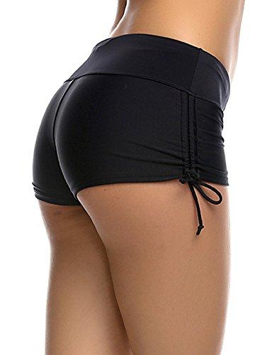 Damen Hot Pants Wassersport Bikinihose Fitness Yoga – verschiedene Farben - 3