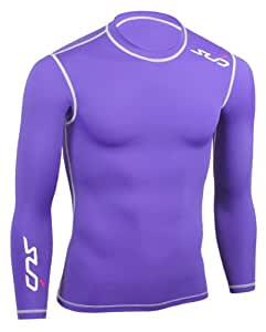 Sub Sports Boy's Dual Compression Baselayer Long Sleeve Top - Purple, 9-10 Years