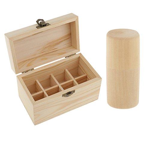 Homyl Ätherische Öle Aufbewahrungsbox mit Deckel Holzkisten Set/2Stück