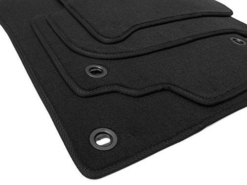 kfzpremiumteile24 Fußmatten / Velours Automatten Original Qualität Stoffmatten 4-teilig schwarz Drehknebel oval