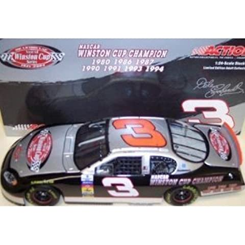 Dale Earnhardt Sr #3 The Victory Lap 7X Champion Seven Time Champion Monte Carlo 2003 Winston Cup Champ Series 1/24 Scale Diecast Hood Opens , Trunk Opens HOTO Action Racing Collectibles ARC Limited Edition by Action