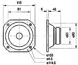 Visaton 2101 Lautsprecher FRS 10 WP 8 Ohm schwarz