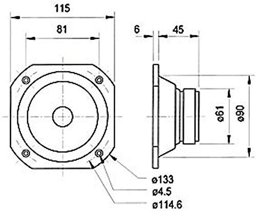 Visaton 2102 Lautsprecher FRS 10 WP 4 Ohm weiß