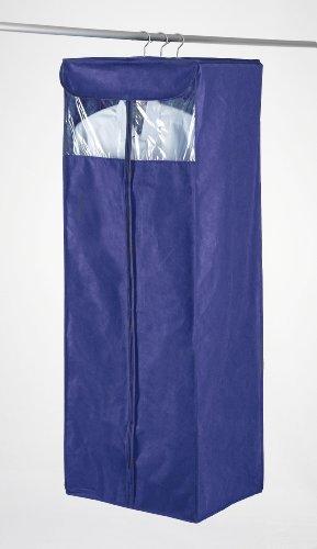 WENKO 4391720100 Kleiderhängeschrank Air - für ca. 10 Kleidungsstücke, atmungsaktives Vlies, 51 x 130 x 38 cm, dunkelblau