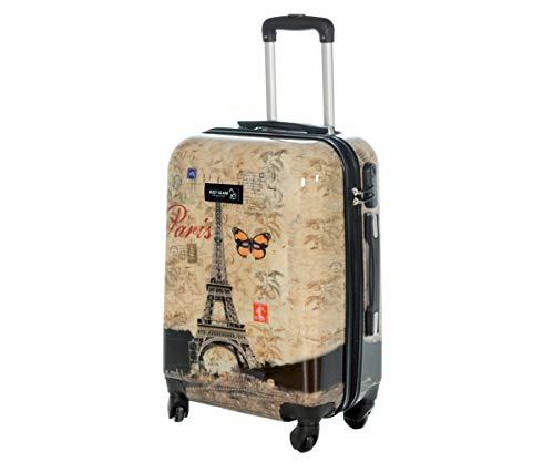 abs policarbonato impermeabile compatibile come e antigraffio 55 valigia fantasia cm stampato lowcost da voli cabina Easyjet in a rigida 4 Trolley ruote HID9YeW2E