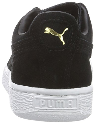 Puma Suede Classic+, Unisex-Erwachsene Sneakers Schwarz (BLK/GLD/WHT 87BLK/GLD/WHT 87)
