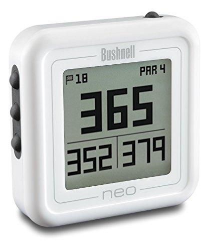 Bushnell GPS Entfernungsmesser Neo Ghost Golf  Preloaded W/Worldwide  Mapping, Weiß, 368222